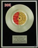 GERRY & the PACEMAKERS - 7inch Platinum Disc- YOU'LL NEVER WALK ALONE